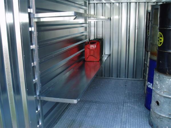 Container Regal mit intelligenter Klicktechnik - 3 Meter SET (3xRegalböden)