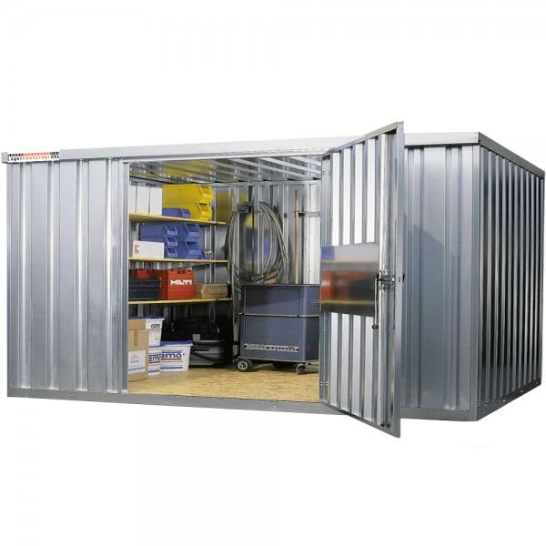 Mini Lagerhalle mit großer 1-flügel Tür 36m³