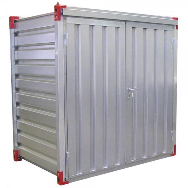 1,38 x 2,20m Lagercontainer - Mini Container mit Doppelflügeltür