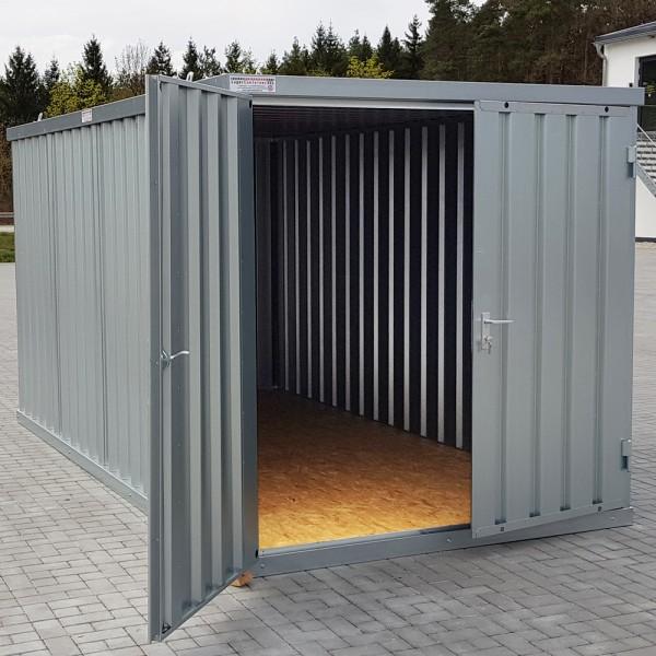 5m Materialcontainer- mit Doppelflügeltür und Kranösen
