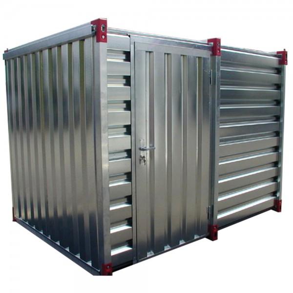 Lagercontainer als Geräteschuppen 2 - 6 Meter | Einflügeltür an der Lagen Seite