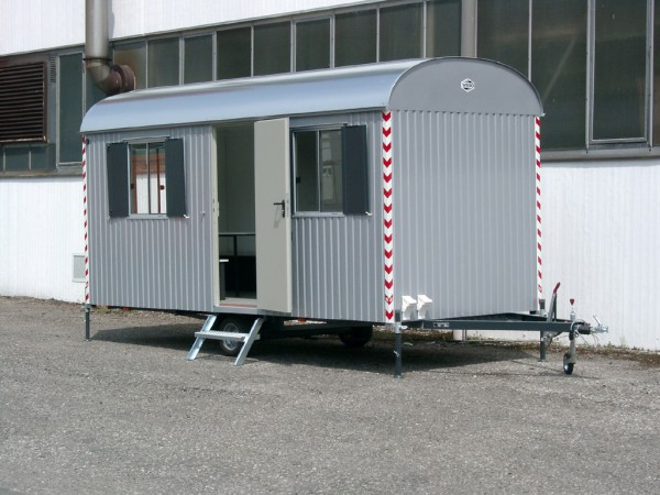 Baustellenwagen 80 - 100km/h Bauwagen mit kompletter Einrichtung -500cm/220cm/230cm