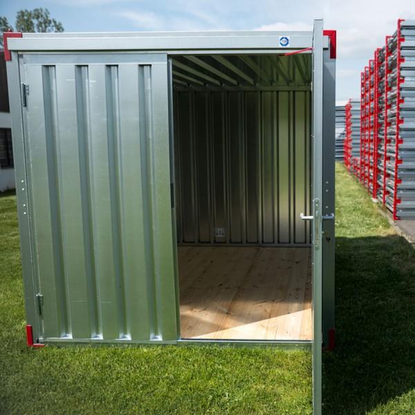 2m Lagercontainer - Blechcontainer mit Doppelflügeltür
