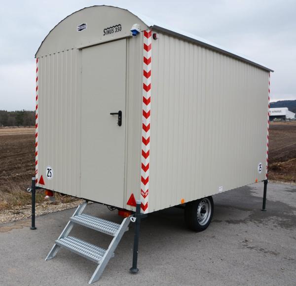 Baustellenwagen 25km/h mit kompletter Einrichtung -350cm/210cm/230cm- / 6 Mann Tagesunterkunft