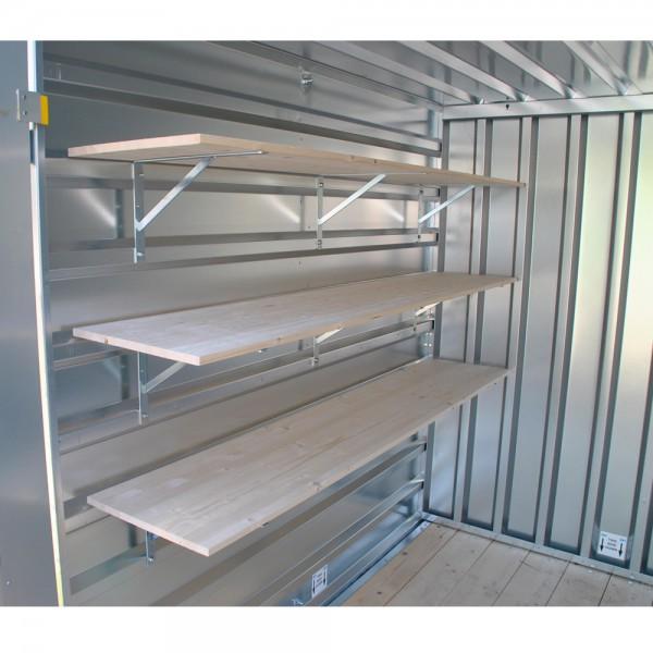 Regalsystem für Lagercontainer & Baucontainer (3xRegalboden)