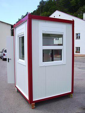 Isolierter mini Container mit Elektroausstattung (Kassencontainer - Pförtnercontainer)