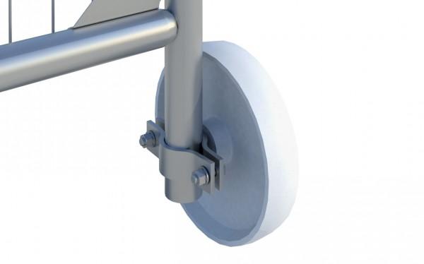 Bauzaun Räder für den Einsatz als Tor Element