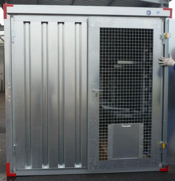 Container Türelement für Hundezwinger - Tierkäfig