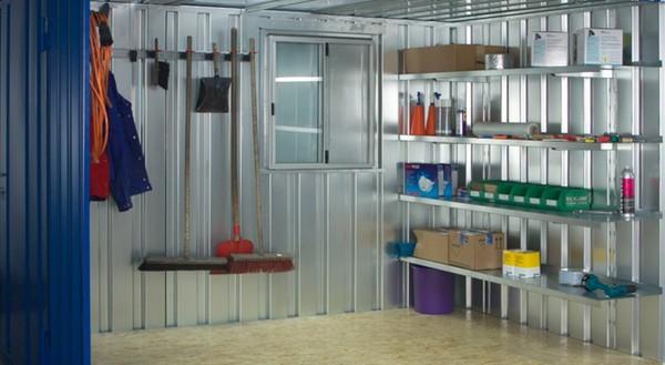 Container Regale 3 Meter mit einfachem Stecksystem - SET (3xRegalböden)