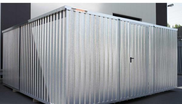 Große Lagerhalle mit stabiler 1-flügel Tür 70m³