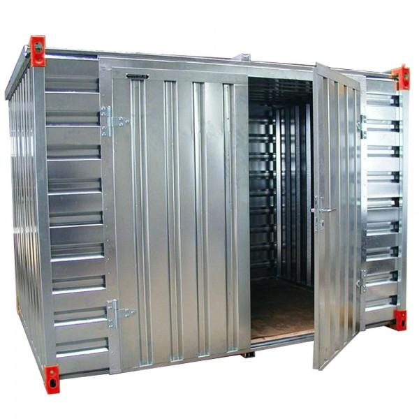 Lager- & Baucontainer 3 - 6 Meter | Doppelflügeltür an der Langen Seite