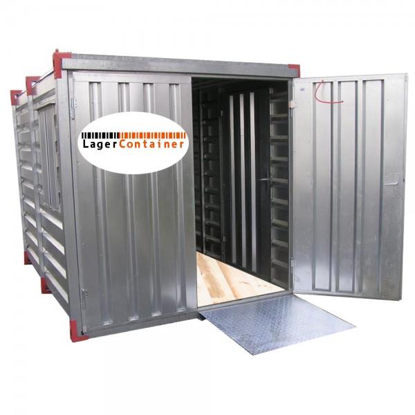 Lagercontainer Auffahrrampe - Hubwagen Rampe 1m