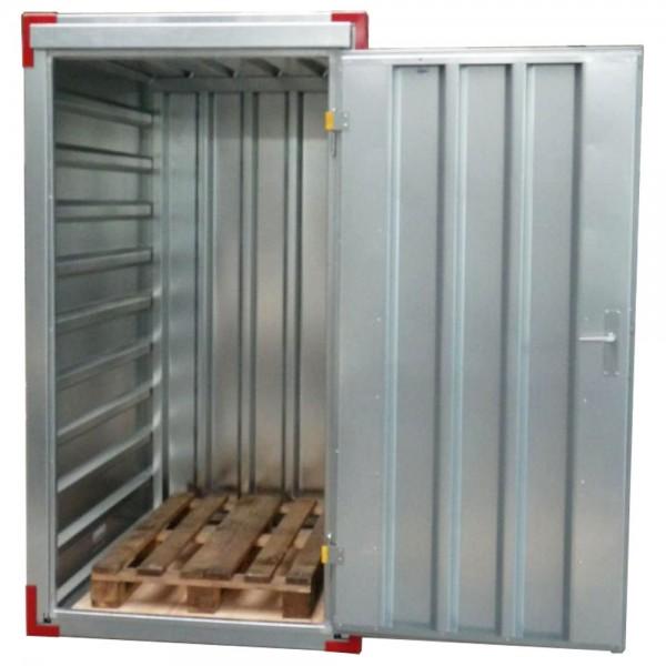 1,00 x 1,20m Lagercontainer - Gerätecontainer mit Einflügeltür