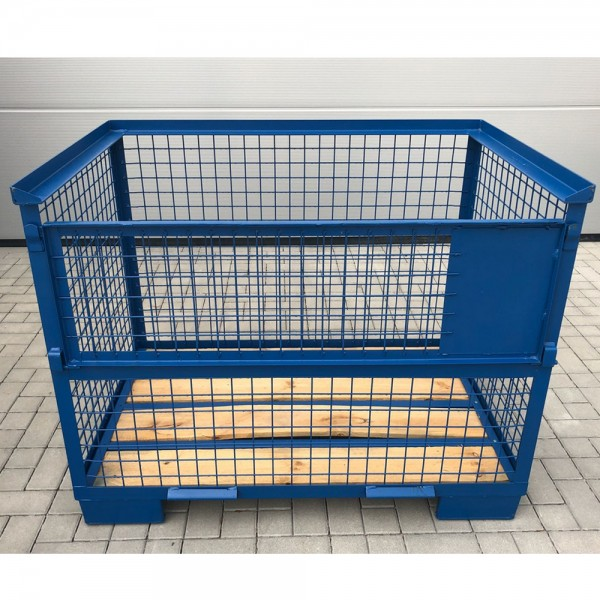 Industrie Gitterbox 1240x835x970 mm Blau stapelbar