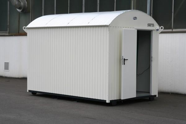 Baucontainer Isoliert mit Staplerschienen und Elektroausstattung 350cm/210cm/230cm