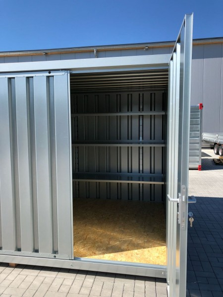 2m Regal für Materialcontainer