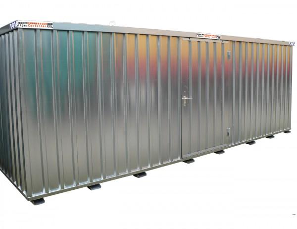 20 Fuss Schnellbaucontainer - mit Einflügeltür, Kranösen und Staplerführung