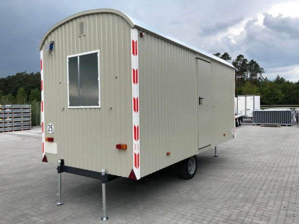 Baustellenwagen 25 km/h Bauwagen mit Einrichtung -500cm/220cm/230cm-LKW Zugöse