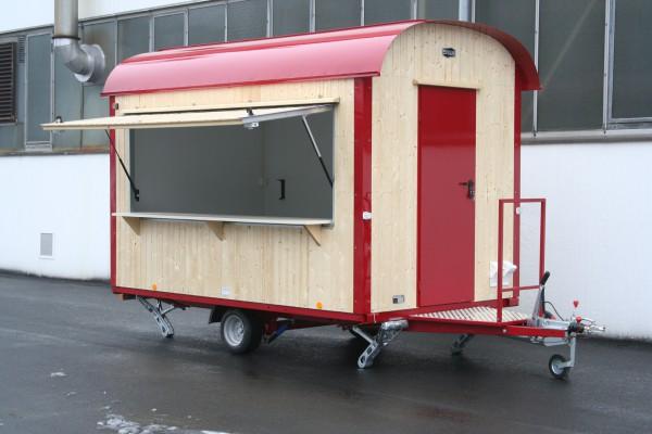 Holz Verkaufswagen | Marktstand Isoliert 25 - 80 km/h mit Elektroausstattung -500cm/220cm/230cm-