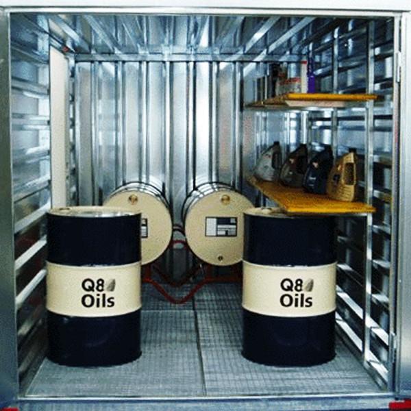 3m Umweltcontainer | Gefahrstoff Container mit Auffangwanne